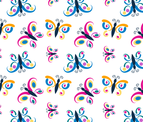 Creatures in Flight fabric by daphne_thomas_designs on Spoonflower - custom fabric