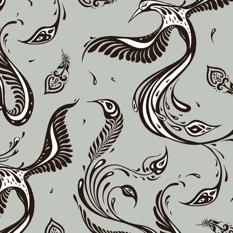 Exotic Birds  fabric by katyau on Spoonflower - custom fabric