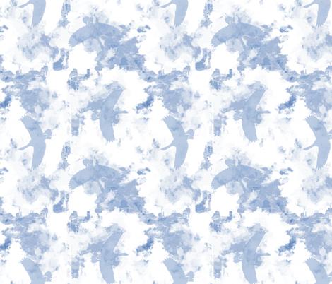 Hawaiian Nene - Geese Flying in the Blue Sky fabric by kedoki on Spoonflower - custom fabric