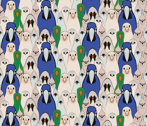 Many Birds fabric by doris_rguez on Spoonflower - custom fabric