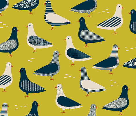 Birdy birdy in the sky fabric by katerhees on Spoonflower - custom fabric