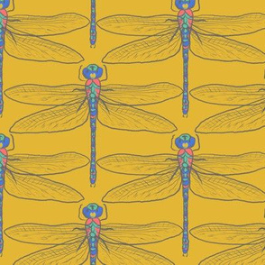 Dragonflies for Swallows (gold)
