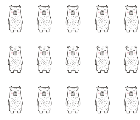 15 Bears 8 inch  Pillow Plush Plushie Softie Cut & Sew  fabric by caja_design on Spoonflower - custom fabric
