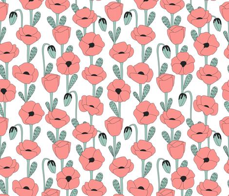 Bright poppies fabric by molecula on Spoonflower - custom fabric