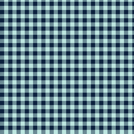 """1/4"""" Crystal Mint + Navy Buffalo Plaid - Woodland Critters Coordinate fabric by gingerlous on Spoonflower - custom fabric"""