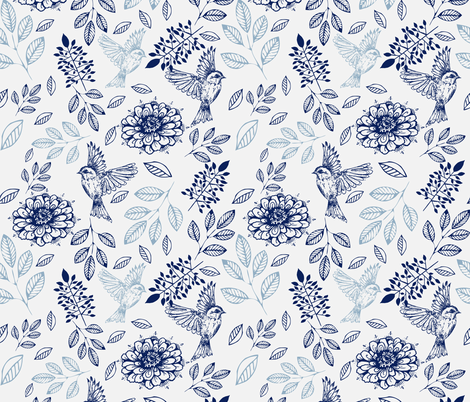birdybirdy fabric by rosebudstudio on Spoonflower - custom fabric