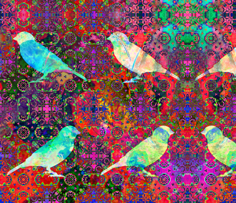 Animals By Air - A Tapestry of Birds fabric by dovetail_designs on Spoonflower - custom fabric