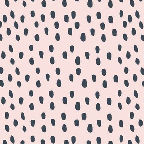black watercolor dots on pink