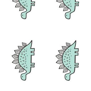 15 Stegosaurus 8 inch  Pillow Plush Plushie Softie Cut & Sew