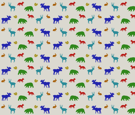 Critters of the Woods fabric by sharon-nm on Spoonflower - custom fabric
