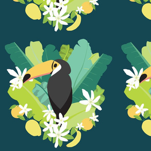 Tropical Toucan Dark Green