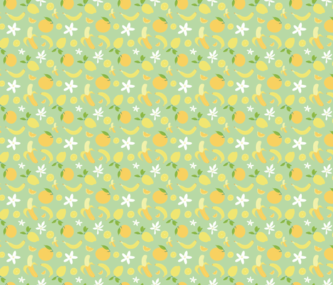 Green Fruit fabric by agnes&park on Spoonflower - custom fabric