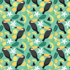 Tropical Toucans Green