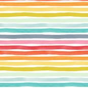 Watercolor Stripes M+ M Rainbow by Friztin