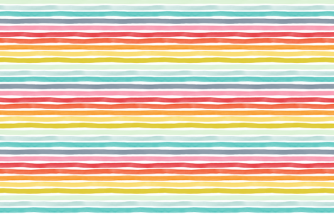 Watercolor Stripes M+M Rainbow by Friztin fabric by friztin on Spoonflower - custom fabric