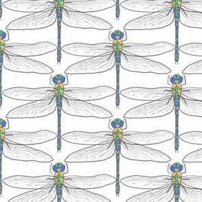 Dragonflies for Swallows (white)