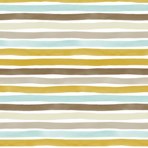 Watercolor Stripes M+M Earthy Hues by Friztin
