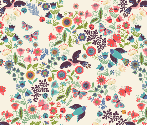Joyful Flight fabric by shellypenko on Spoonflower - custom fabric