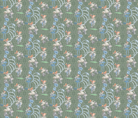 Miniature Rolling on My Tricycle fabric by nancy_lee_moran_designs on Spoonflower - custom fabric