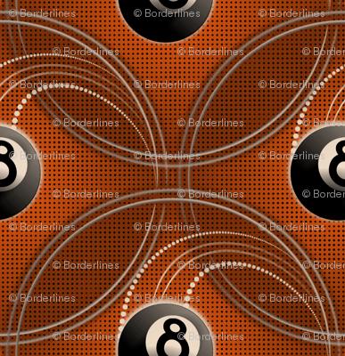 ★ MAGIC EIGHT BALL ★ Orange - Large Scale / Collection : 8 Balls - Billiard & Rock 'n' Roll Old School Tattoo Print