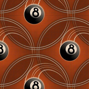 ★ MAGIC EIGHT BALL ★ Orange - Large Scale / Collection : 8 Balls - Billiard & Rock 'n' Roll Old School Tattoo Print