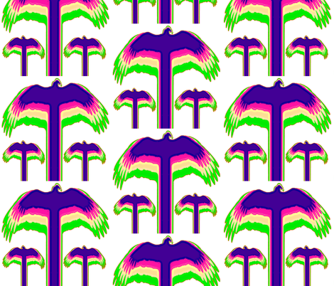 Vulture Big and Bright fabric by spontaneouscombustion on Spoonflower - custom fabric
