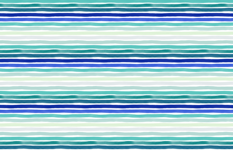 Watercolor Stripes M+M Blues Hues by Friztin fabric by friztin on Spoonflower - custom fabric