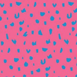 dino dots pink and blue