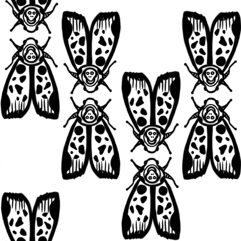 Death's Head Moth Kiss/ Totenkopf Moth Kuss - by Su_G fabric by su_g on Spoonflower - custom fabric