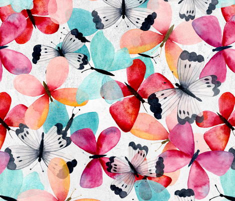 my butterflies fabric by grace_andersson on Spoonflower - custom fabric