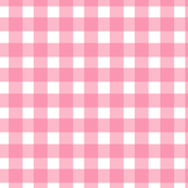 Gingham Check in Petal Pink
