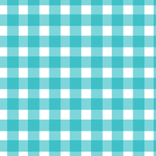 Gingham Check in Surf Green