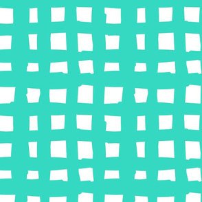 Paper Straws Check in Turquoise