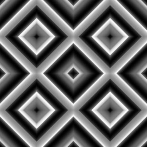 Black and White Diamond Illusions
