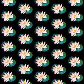 Dell lotus on black half drop