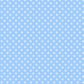 Polkadots, blue and white