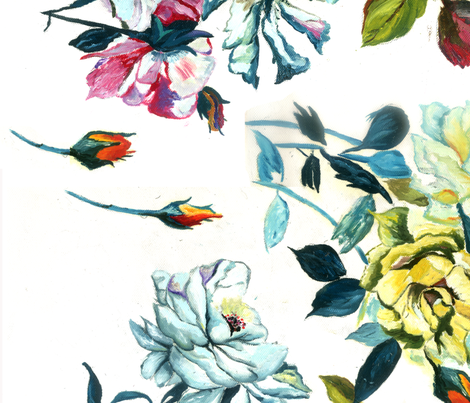 floral design fabric by artist_qasim_ on Spoonflower - custom fabric