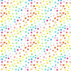 Rainbow watercolour dots - smaller scale