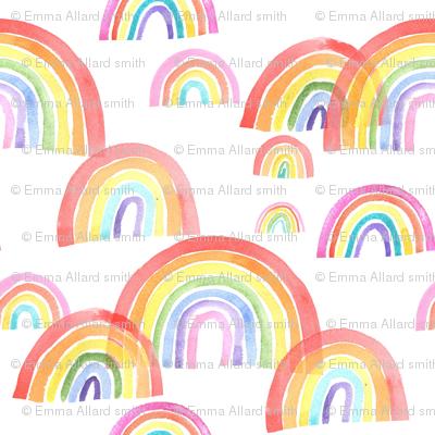 Watercolour Rainbows - smaller scale
