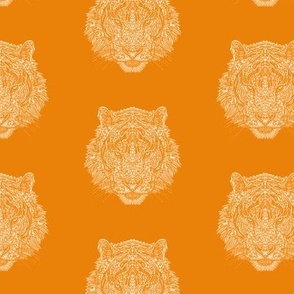 Tiger - Orange - Complicated Coloring Pattern