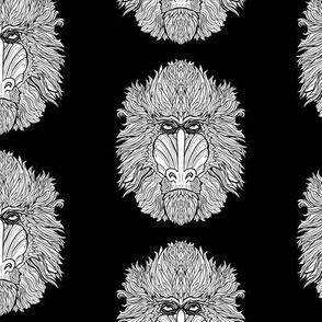 Mandril - White on Black