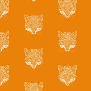 Orange and White Fox Pattern