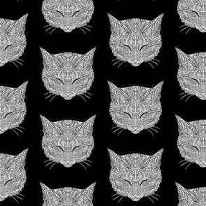 Manx Cat Pattern - Black and White