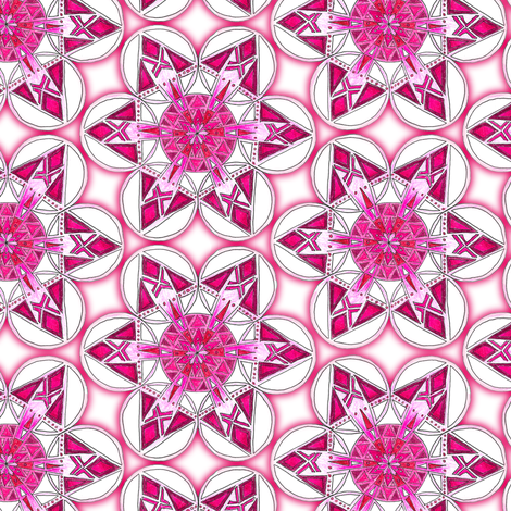 large snowflake hexagons in magenta fabric by weavingmajor on Spoonflower - custom fabric