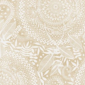 Medallion Pattern in Pale Tan