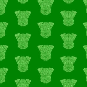 Green Snauzer Dog Pattern