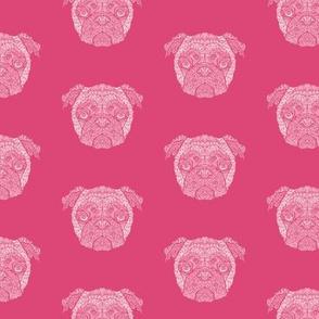 Pink Pug Pattern