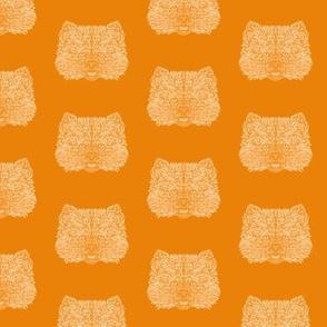 Orange Pomeranian Dog Pattern