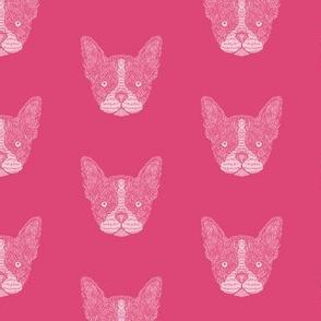 Pink French Bulldog Pattern