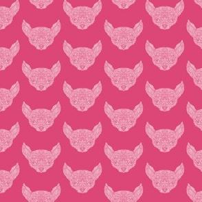 Pink Chihuahua  Pattern